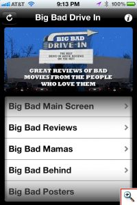 Big Bad Drive-In - The iPhone App! - Click to View Larger!